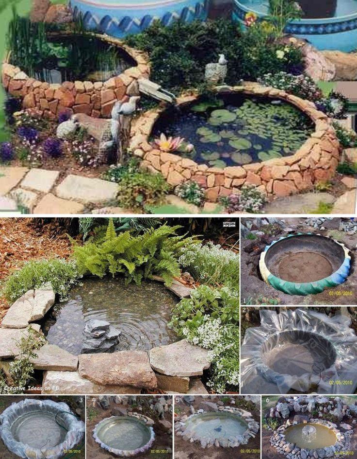 Fantastic DIY Backyard Ponds From Previous Tires | WonderfulDIY.com. See  Even More At