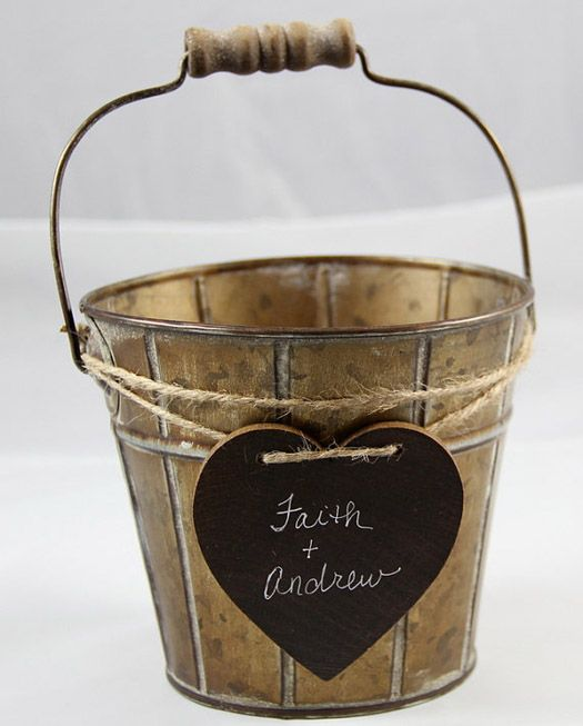 rustic wedding flower girl baskets | the rustic basket this flower girl tin basket is perfect for a rustic ...