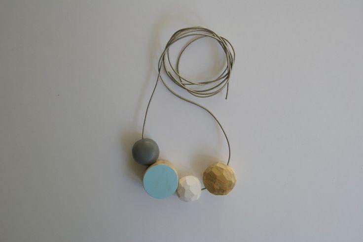 Korale drewniane - handmade w SZLIFY na DaWanda.com / Wooden beads necklace.
