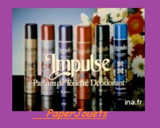 Déodorant Impulse : tout d'un coup, un inconnu vous offre des fleurs / années 80