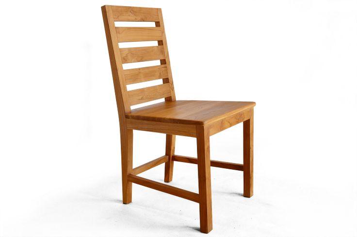 Kursi makan sandaran tangga kayu jati solid