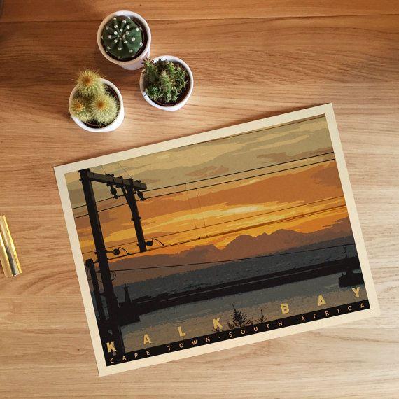 Kalk Bay Sunrise, Cape Town. Giclee travel art print