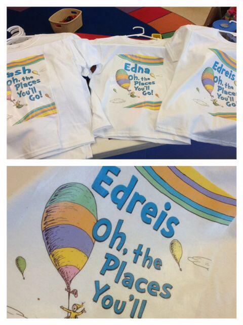 Oh The Places You'll Go Preschool Graduation Theme (t-shirts made for graduation)