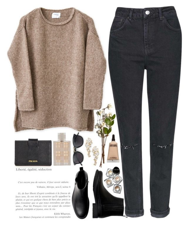 Say No by sofiyar on Polyvore featuring Topshop, Prada, Nadri, Club Monaco, Bobbi Brown Cosmetics, MAC Cosmetics, Burberry and 3.1 Phillip Lim