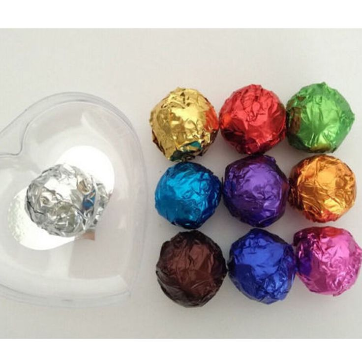 100 Pcs/set Chocolate Candy Sewing Package 10 Colors 8011 Food Aluminum Foil New #Unbranded