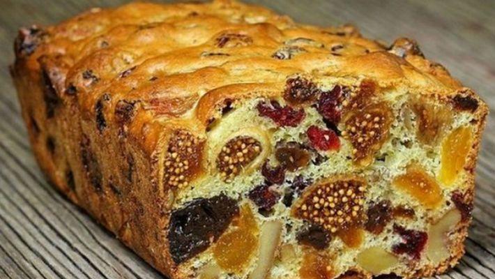 Не слипнется! Кекс из сухофруктов: мало теста много ягод!