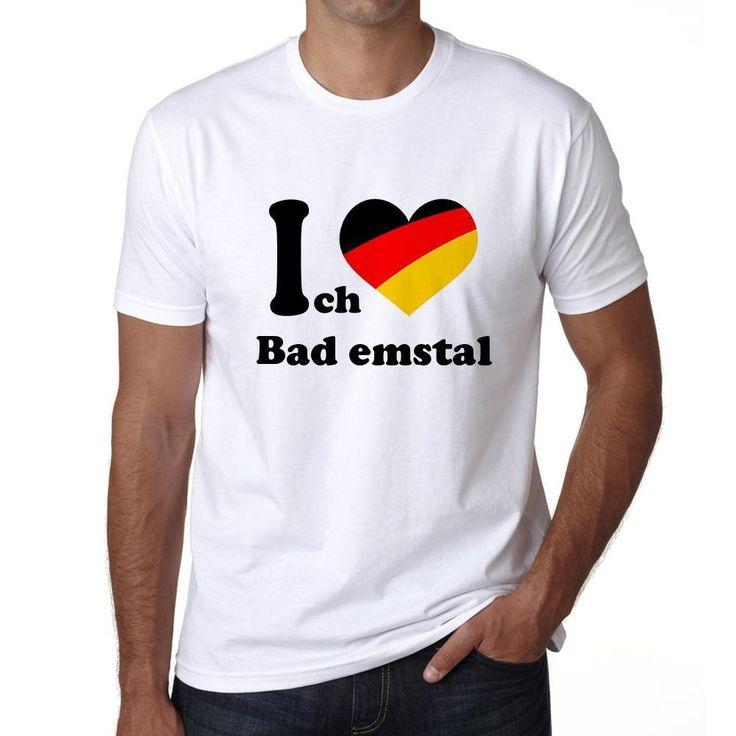 Bad emstal, Men's Short Sleeve Rounded Neck T-shirt
