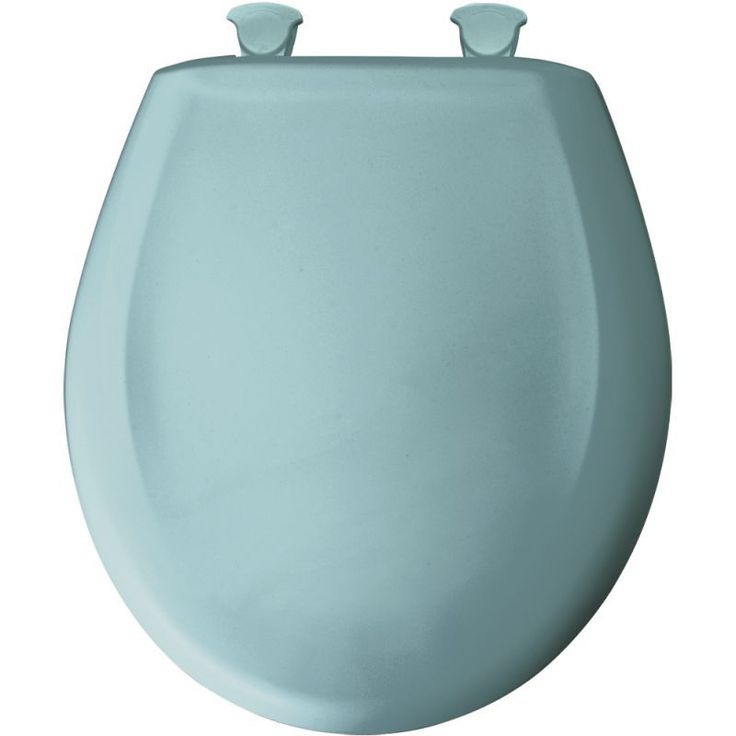 Bemis 200SLOWT Round Closed-Front Toilet Seat and Lid with Whisper-Close® Easy- Blue Accessory Toilet Seat Round