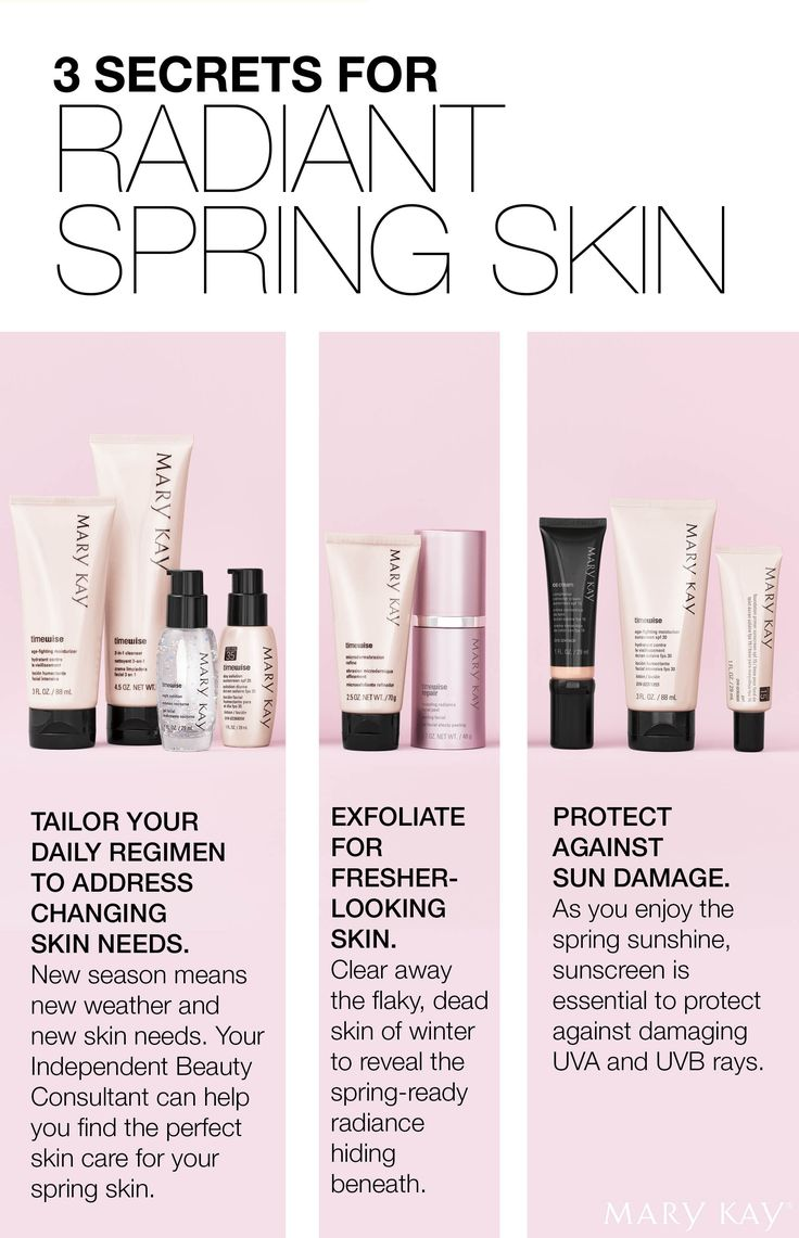 Customize, exfoliate and protect! Reveal radiant skin this spring.   Mary Kay