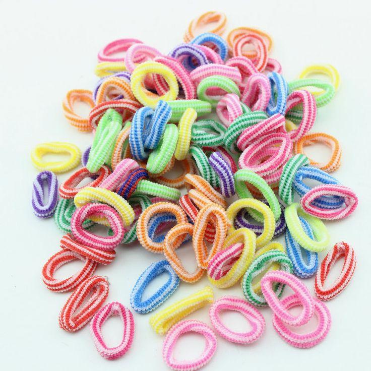 $0.89 (Buy here: https://alitems.com/g/1e8d114494ebda23ff8b16525dc3e8/?i=5&ulp=https%3A%2F%2Fwww.aliexpress.com%2Fitem%2FBaby-Girls-Kids-Children-Elastic-striped-Hair-Ties-Bands-Rope-Ponytail-Holders-Headband-hairwear-Scrunchie-Hair%2F2033219947.html ) 100pcs/pack Baby Girls Elastic striped  Hair Ties Bands Rope Ponytail   Holders Headband hairwear Scrunchie Hair Accessories for just $0.89