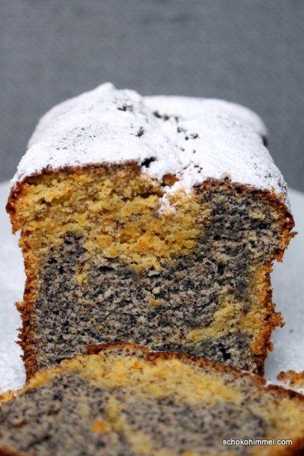 Mohn-Möhren-Marmorkuchen - Schokohimmel