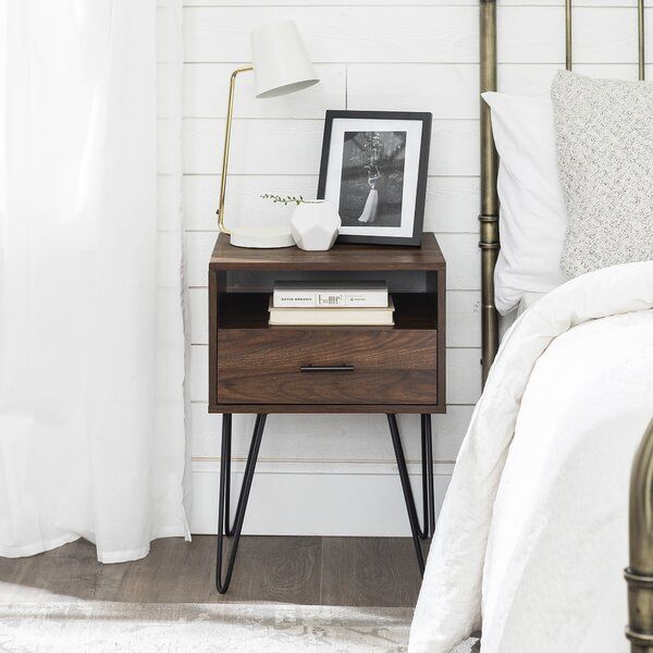 1 Drawer End Table With Storage Bedroom Night Stands Modern Side Table End Tables With Storage