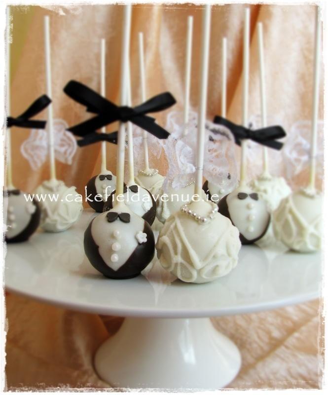 cake pop ideas wedding shower%0A Bride and Groom Cake Pops