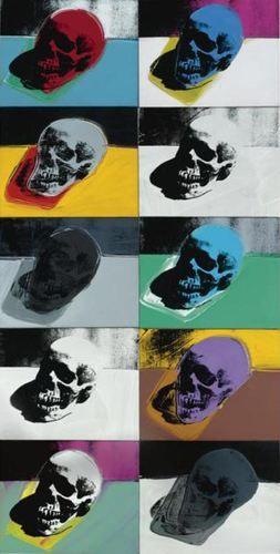Crânes, par Andy Warhol
