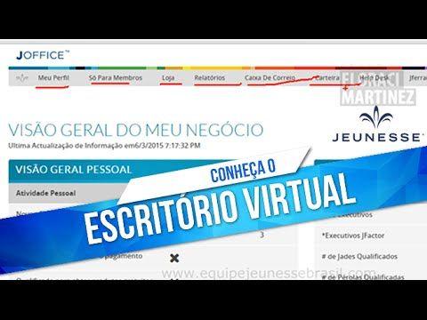 JEUNESSE   Como usar o Escritório Virtual - YouTube