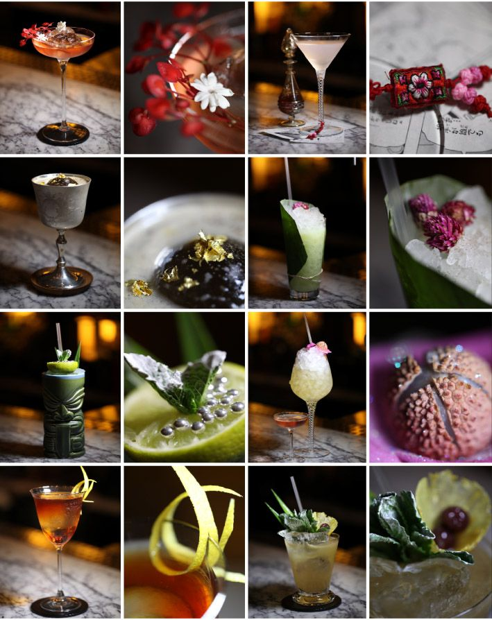 The most beautiful cocktail garnishes at the Artesian at The Langham London via @diffordsguide