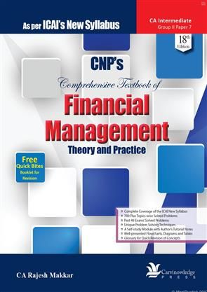 CNP's Comprehensive Textbook of Financial Management By CA Rajesh Makkar #CA #IPCC #Books #Discount of 10% #BestOffers #BestDeal #CAintermediate #AcademicBooks #ProfessionalBooks  #Order_Online #FreeShipping #OnlinePayment, #COD and #ChequePayment #CAFinal, #CAIPCC #CMA, #CS #Online #Book #Store in #India