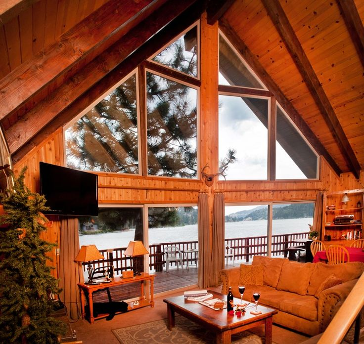 Big Bear Lake Cabin Rental: Spectacular Lakefront With Hot Tub And Dock At A Spectacular Price! | HomeAway