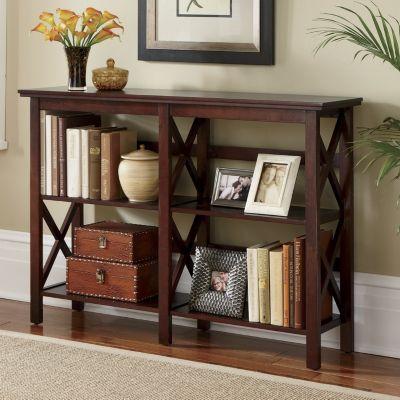 2 Shelf Horizontal Crossbar Bookcase Accessorize Your