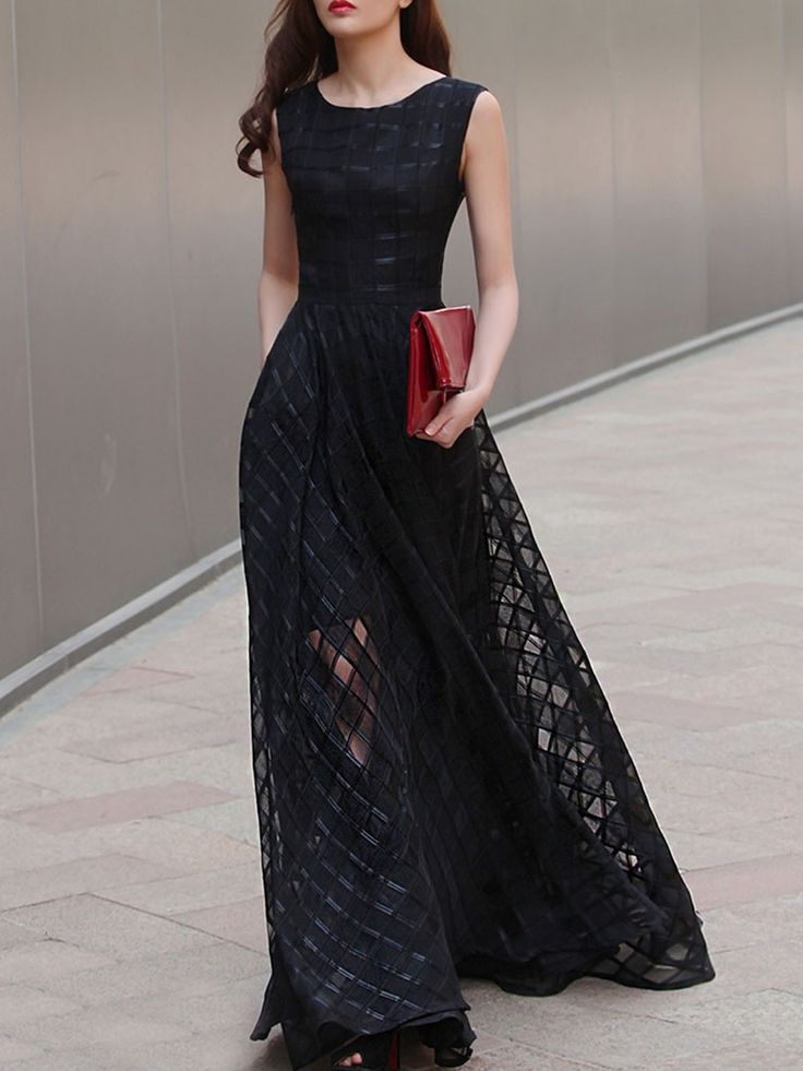 this black maxi is the perfect understated drama
