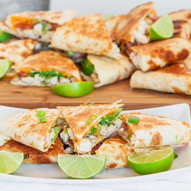 Cheesy Chicken with Bacon and Avocado Quesadillas – these are incredibly delicious.