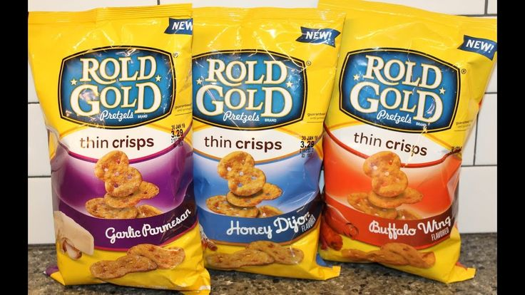Rold Gold Pretzels Thin Crisps: Garlic Parmesan, Honey Dijon & Buffalo W...
