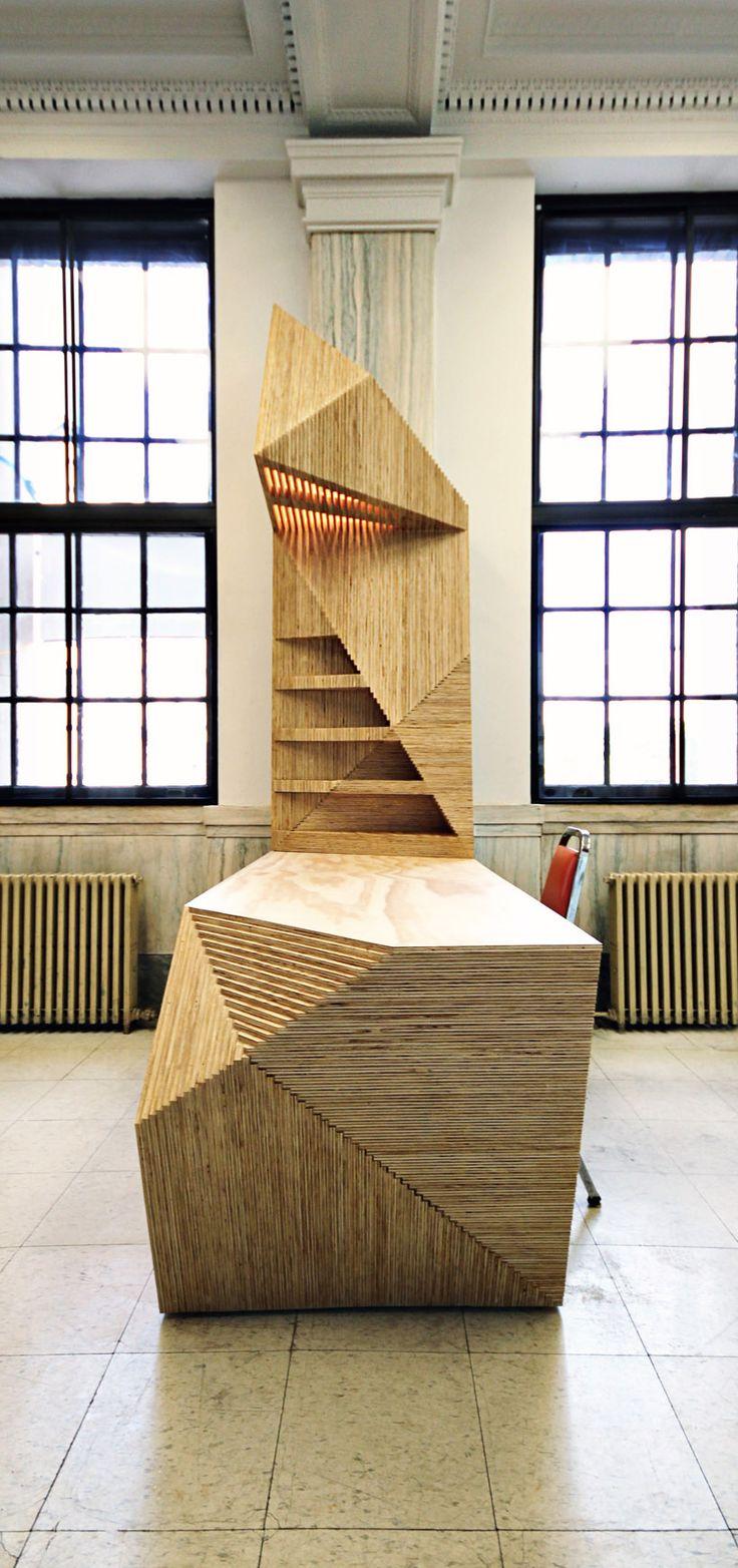 shelves for display deskasaur reception desk in vestibule, perhaps could make with cardboard?
