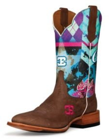 Cinch Edge Sky Bar Cowgirl Boots - Square Toe
