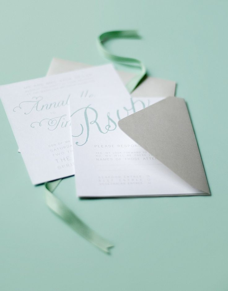 cute wedding card ideas%0A Swirly  girly  and shimmery calligraphic wedding invitations with an  organic cotton herringbone ribbon sash to boot