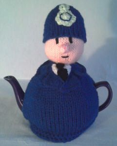 Policeman tea cosy! https://www.etsy.com/listing/177857376/policeman-tea-cosy-knitting-pattern