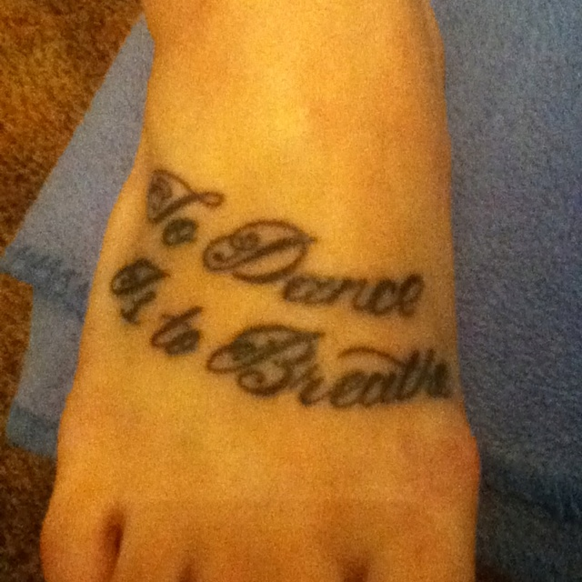 Dance Tattoo <3 except on my spine instead