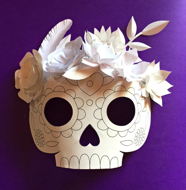17 best images about day of the dead dia de los muertos for Day of the dead skull mask template