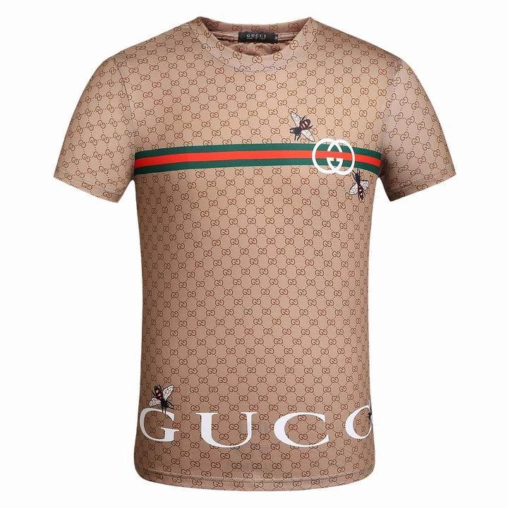 28415d601 Fashion GUCCI Short Sleeve Round Collar Men T Shirts   GUCCI Short ...