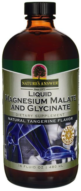Nature's Answer Liquid Magnesium Malate and Glycinate - TangerineFlavor