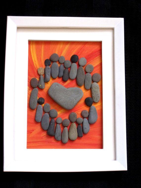 Circle of Love Unique Pebble Art Creation by PebbleSimplicity