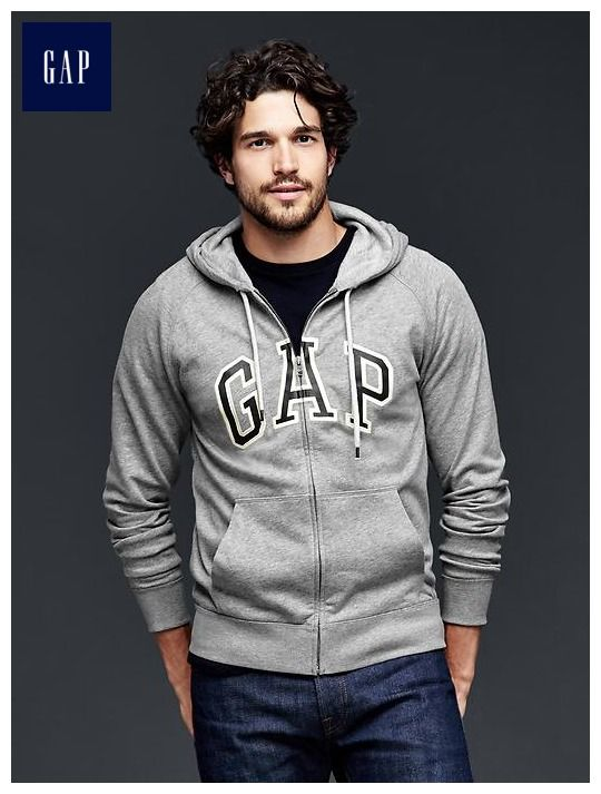Arch logo heavyweight zip hoodie