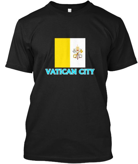 Vatican City Flag Classic Blue Design Black T-Shirt Front - This is the perfect gift for someone who loves Vatican City. Thank you for visiting my page (Related terms: I Heart Vatican City,Vatican City,Vatican City,Vatican City Travel,I Love My Country,Vatican City Fl #Vatican City, #Vatican Cityshirts...)