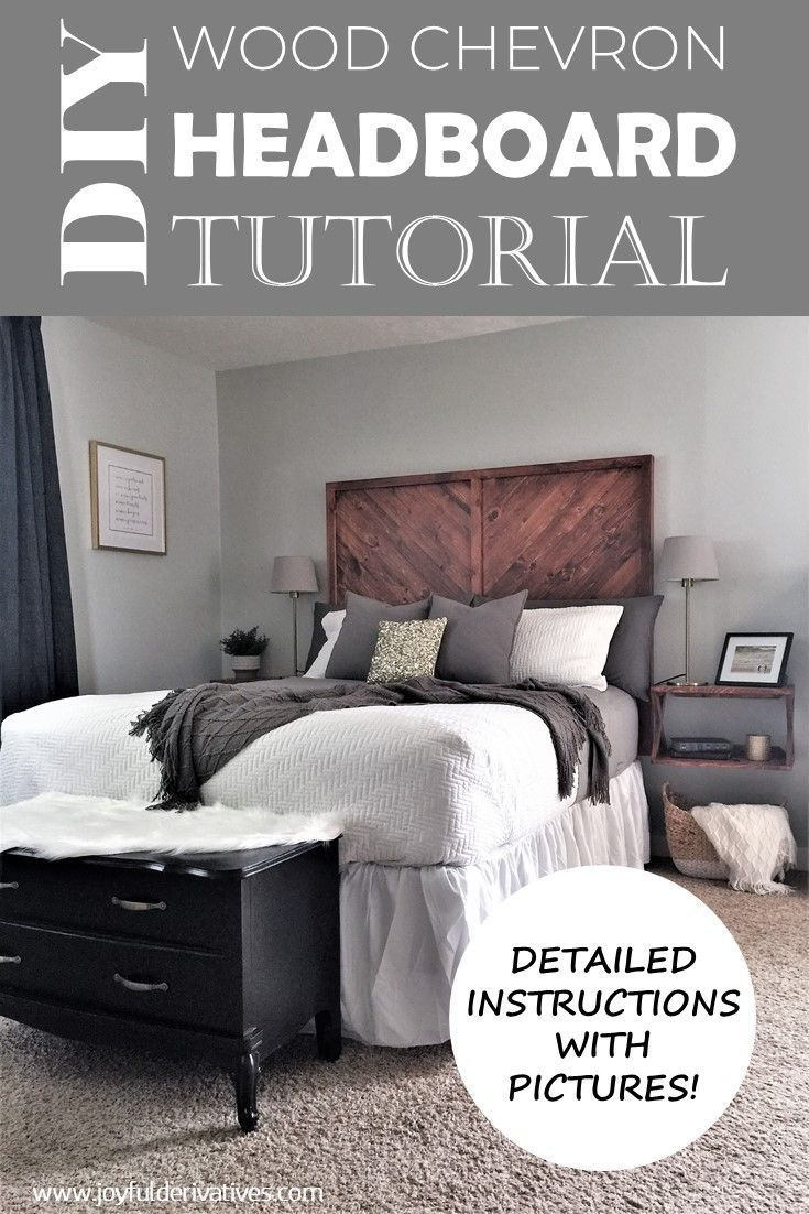 how to build a west elm inspired diy wood headboard master bedroom rh pinterest ch