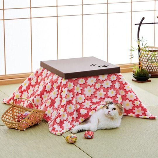 cat kotatsu cardboard house pets japanese cat japanese table cats rh pinterest com