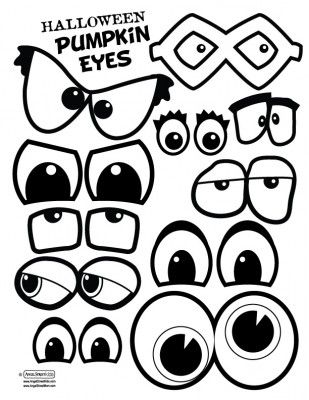 Pumpkin eyes and mouths. This would make a fun singing time. Have a few blank pumpkins either paper or real, and write song names on the back of the eyes and mouths.