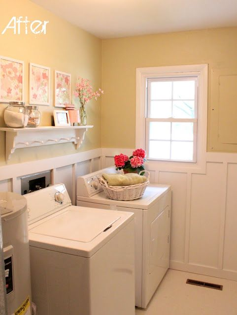 Pretty laundry room: Soft Colors