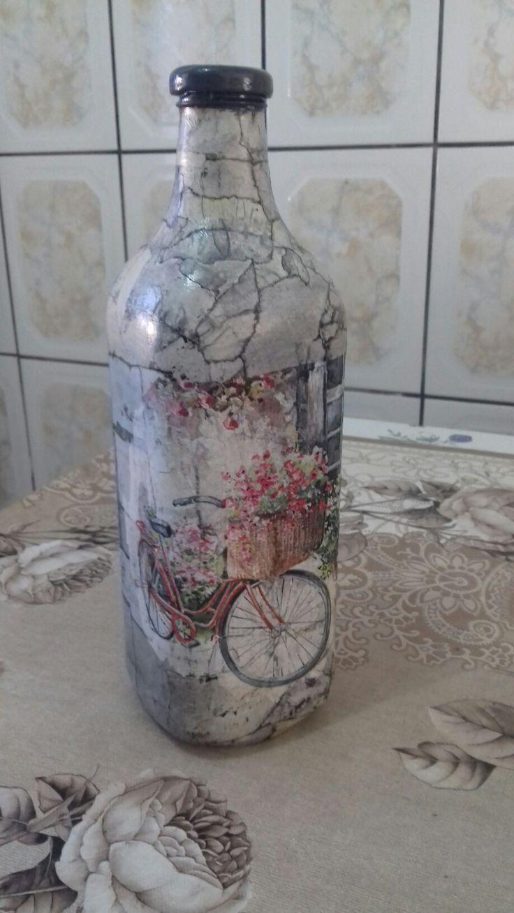 Efeito marmore com decoupagem