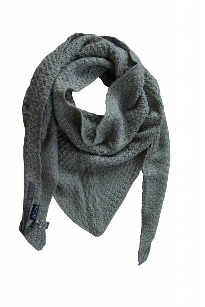 Zusss Sjaal om in te wonen 75x210cm, staal-grijs