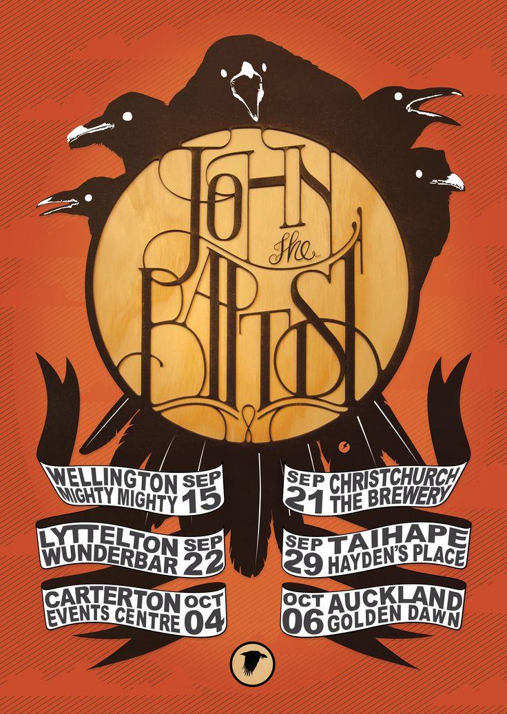 Tour poster for John the Baptist. www.behance.net/davidrandallpeters