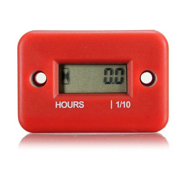 Digital Hour Meter Gauge for Motorcycle ATV Marine Boat Yama Ski Dirt - US$8.39