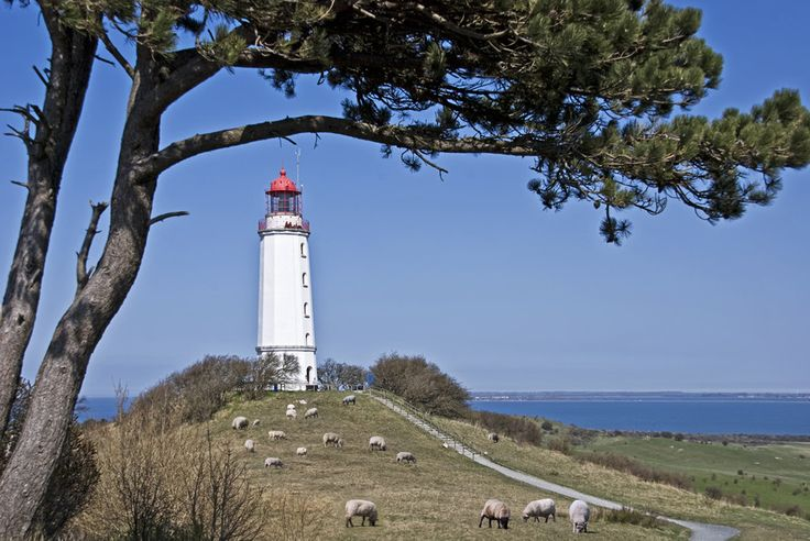 """the """"Dornbusch Lighthouse"""" in the north of the island of Hiddensee in the Baltic Sea. Photo by Joachim G.  Pinkawa"""