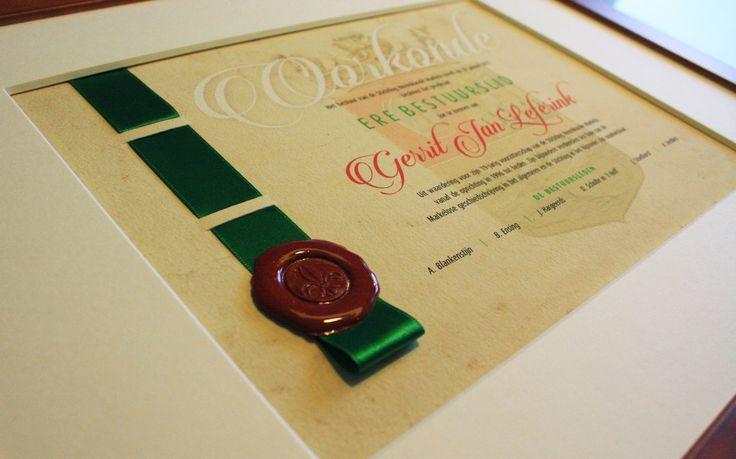 Oorkonde erelid; waardering voor de vrijwilliger. http://certificaatopmaat.nl/oorkonde-erelid-waardering-vrijwilliger/