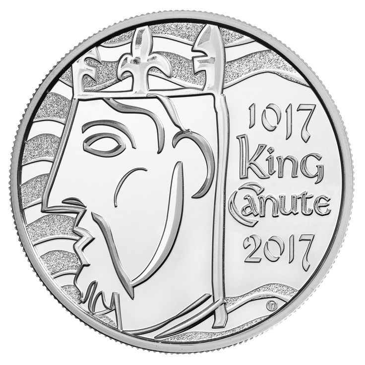 2017 marks 1,000 years since the coronation of King Canute, the Viking Warrior who became the first King of a unified England. The momentus anniversary is marked on a UK £5 - the first time that a 1,000 year anniversary has been celebrated on a Royal Mint coin!
