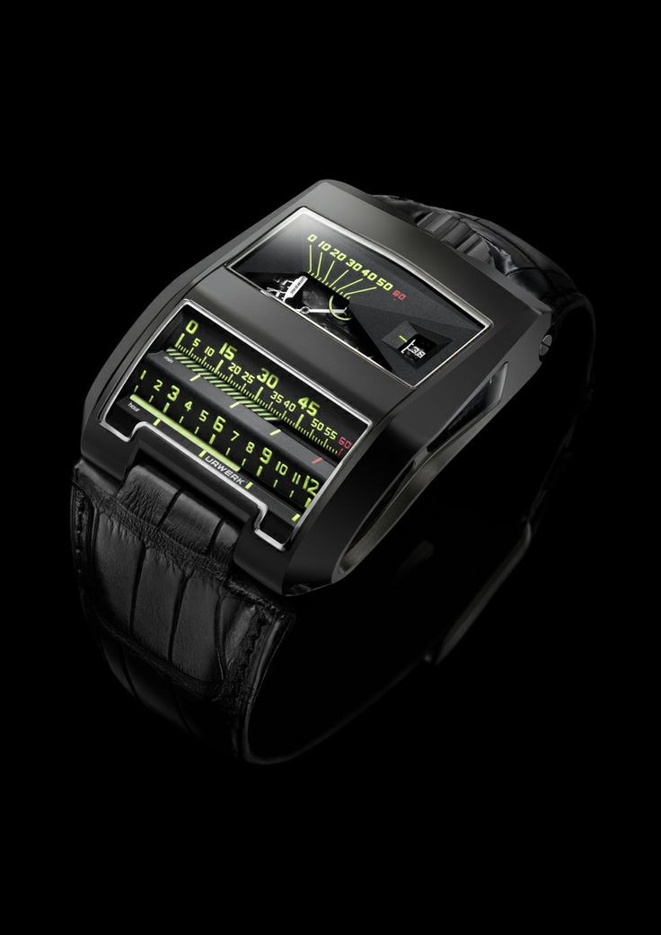 In the UR-CC1 ALTIN, there are two horizontal indications displayed by two cylinders: one for the (jumping) hours, the other for the retrograde minutes. For more information, please visit: http://www.urwerk.com/en/collection-n-a-c4-p9.php