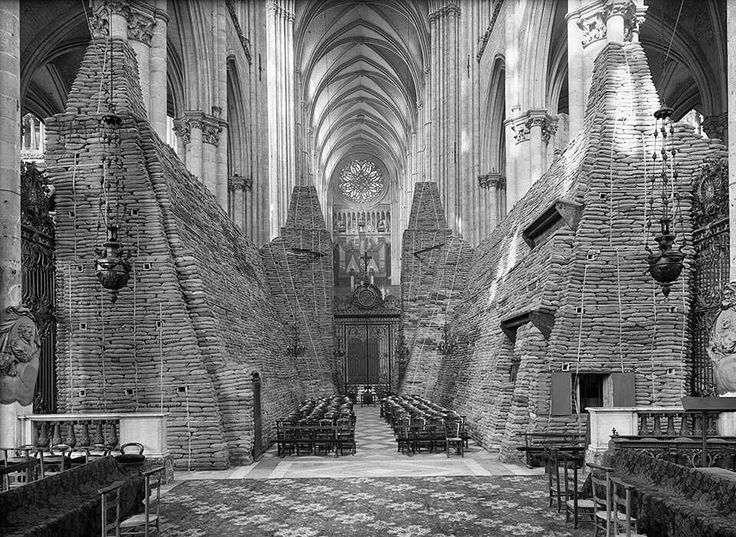 Amiens Cathedral, France during World War I, circa 1916